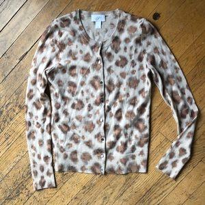 LOFT Sweaters - 🐆leopard print cardigan 🐆